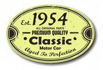 Distressed Aged Established 1954 Aged To Perfection Oval Design For Classic Car External Vinyl Car Sticker 120x80mm